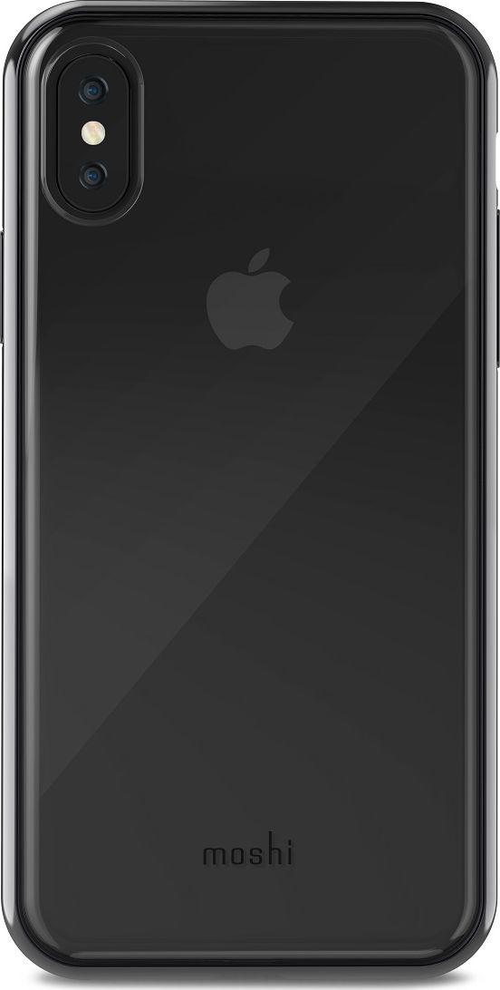 Moshi Vitros чехол для iPhone X, Raven Black99MO103031Vitros для iPhone X от Moshi это тонкий ударопрочный прозрачный чехол в минималистском стиле. Амортизирующая рамка чехла создана с использованием запатентованного процесса испарения металлов, для создания глянцевой поверхности, которая является одновременно стильной и защитной. Стильный Vitros защищает Ваш iPhone от царапин и ударов, а также поддерживает беспроводную зарядку Вашего устройства. Созданный из полимера, этот чехол прошел тестирования на сопротивление ???истиранию, нагреву и изгибу, таким образом, Ваш чехол сохранит свой блеск на протяжении долгого времени. ???Приподнятые края защищают экран iPhone, когда он лежит экраном вниз, а также сохранен свободный доступ ко всем кнопкам, портам и камере. Vitros доступен в разных цветах и обладает ограниченной пожизненной гарантией от Moshi.ХарактеристикиСверхтонкий чехол с противоударной защитой, соответствующей оборонным стандартам.Полимер сопротивляется ???истиранию, нагреву и изгибу.Прозрачная задняя часть показывает дизайн iPhone.??????Все кнопки полностью защищены.???Приподнятые края защищают экран iPhone, когда он лежит экраном вниз.??????Металлизированная рамка в разных цветовых решениях.Поддерживает беспроводную зарядку.