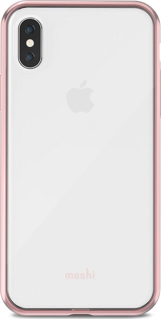 Moshi Vitros чехол для iPhone X, Orchid Pink99MO103251Vitros для iPhone X от Moshi это тонкий ударопрочный прозрачный чехол в минималистском стиле. Амортизирующая рамка чехла создана с использованием запатентованного процесса испарения металлов, для создания глянцевой поверхности, которая является одновременно стильной и защитной. Стильный Vitros защищает Ваш iPhone от царапин и ударов, а также поддерживает беспроводную зарядку Вашего устройства. Созданный из полимера, этот чехол прошел тестирования на сопротивление ???истиранию, нагреву и изгибу, таким образом, Ваш чехол сохранит свой блеск на протяжении долгого времени. ???Приподнятые края защищают экран iPhone, когда он лежит экраном вниз, а также сохранен свободный доступ ко всем кнопкам, портам и камере. Vitros доступен в разных цветах и обладает ограниченной пожизненной гарантией от Moshi.ХарактеристикиСверхтонкий чехол с противоударной защитой, соответствующей оборонным стандартам.Полимер сопротивляется ???истиранию, нагреву и изгибу.Прозрачная задняя часть показывает дизайн iPhone.??????Все кнопки полностью защищены.???Приподнятые края защищают экран iPhone, когда он лежит экраном вниз.??????Металлизированная рамка в разных цветовых решениях.Поддерживает беспроводную зарядку.