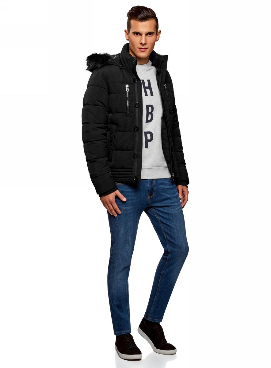Куртка мужская oodji Lab, цвет: черный. 1L112026M/47285N/2900N. Размер XXL-182 (58/60-182) bluetooth адаптер emerald bt
