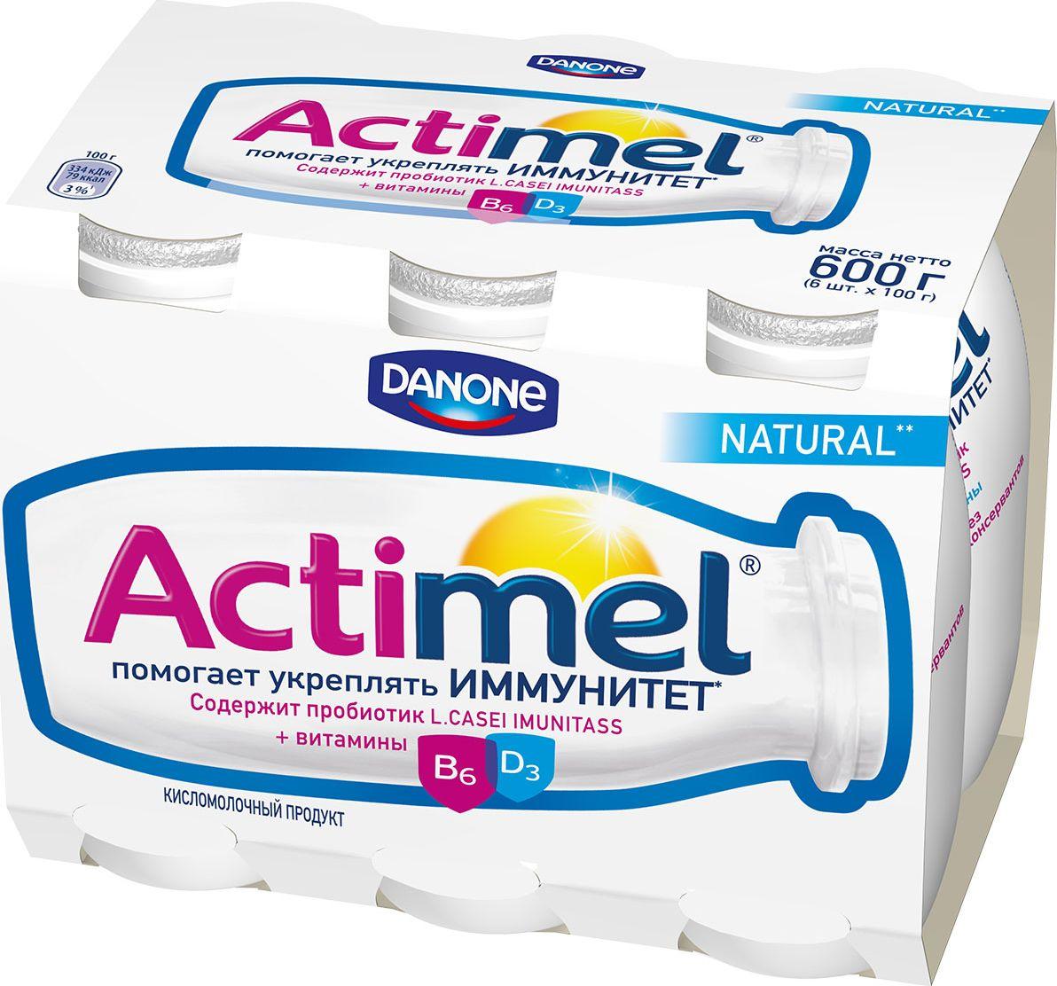 Актимель Продукт кисломолочный 2,6%, 6 шт по 90 г актимель продукт кисломолочный 2 6