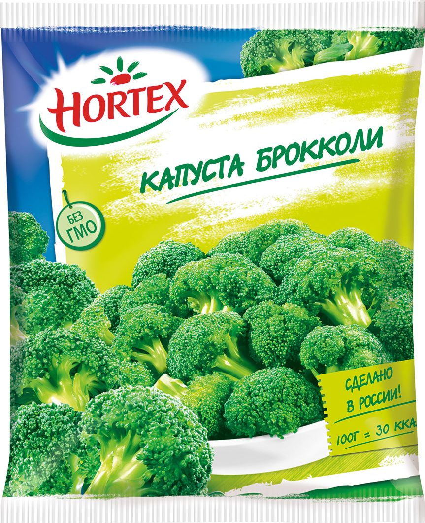 Hortex Капуста брокколи, 400 г4607191650111витамины красоты и здоровья