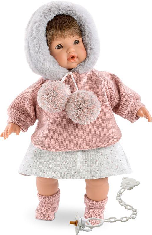 Llorens Пупс Айсель цвет наряда серый розовый - Куклы и аксессуары
