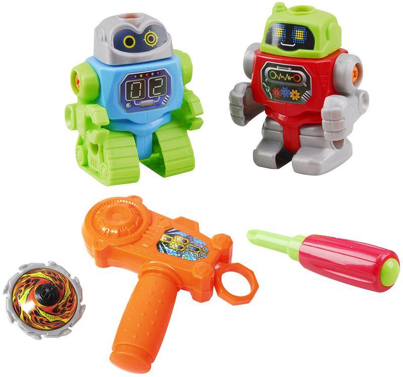 PlayGo Игровой набор Собери робота детское помповое ружье стреляющее пульками цена