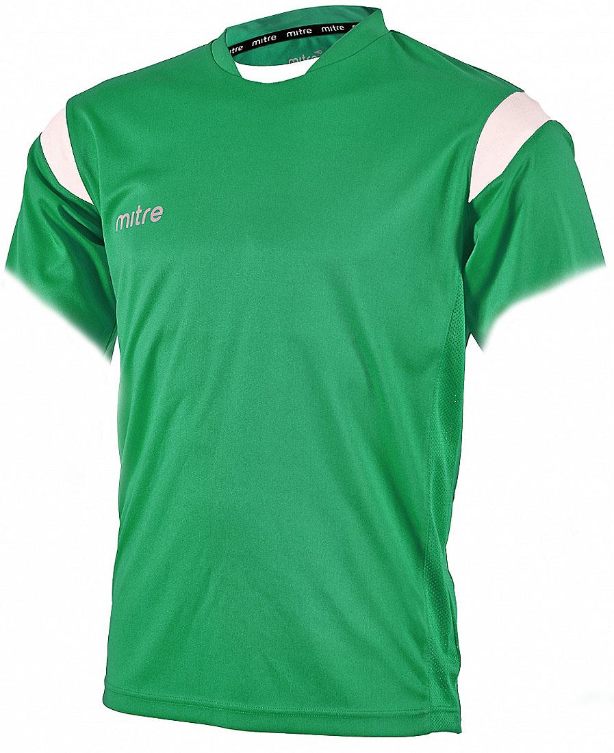 Футболка мужская Mitre, цвет: зеленый. T70001EMN. Размер XS (44/46)T70001EMNФутболка мужская Mitre выполнена из полиэстера. Новый дизайн с применением множества различных тканей. Удобный эластичный ворот. Сетчатые полосы ткани по бокам футболки улучшают вентиляцию тела.