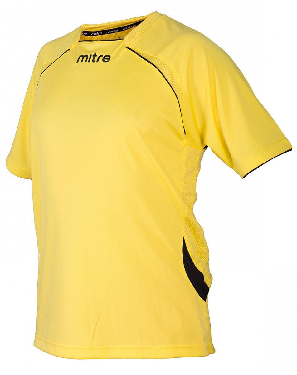 Футболка мужская Mitre, цвет: желтый. TT29019. Размер S (46/48)TT29019Футболка мужская Mitre выполнена из полиэстера. Дополнительная мягкая тканевая сеточка на внутренней стороне воротника не позволит натереть шею. Сетчатые полосы ткани по бокам и в верхней части спины футболки улучшают вентиляцию.