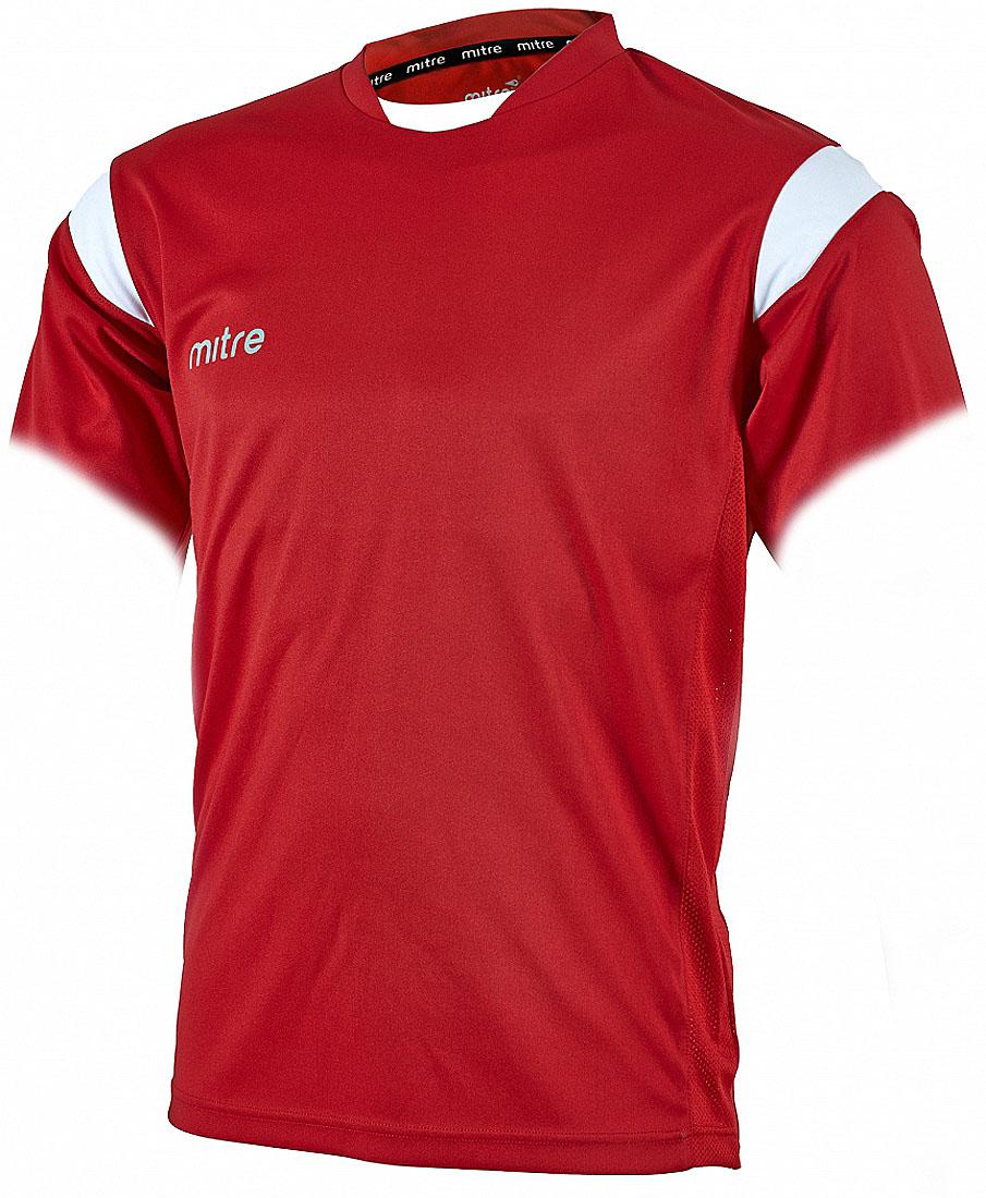 Футболка для мальчика Mitre, цвет: красный. T70001SWH. Размер 122T70001SWHФутболка для мальчика Mitre выполнена из полиэстера. Новый дизайн с применением множества различных тканей. Удобный эластичный ворот. Сетчатые полосы ткани по бокам футболки улучшают вентиляцию тела.