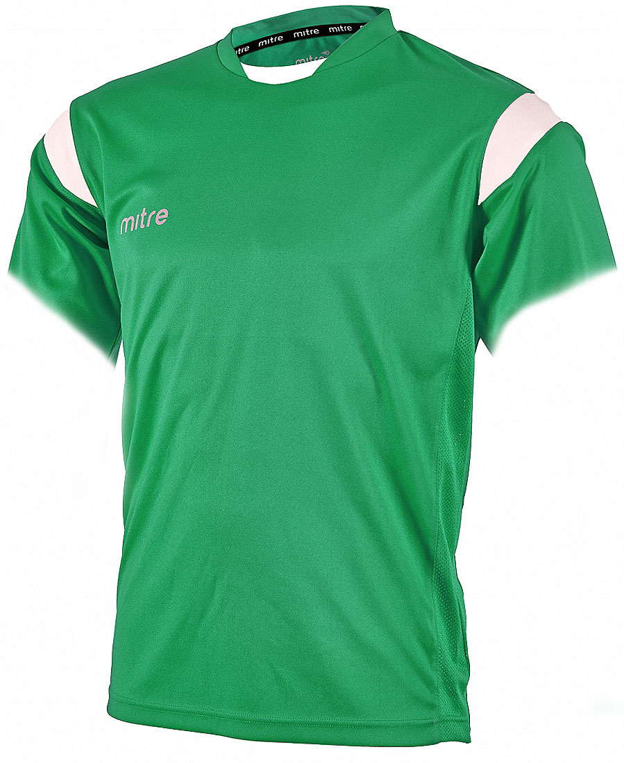 Футболка для мальчика Mitre, цвет: зеленый. T70001EMN. Размер 134T70001EMNФутболка для мальчика Mitre выполнена из полиэстера. Новый дизайн с применением множества различных тканей. Удобный эластичный ворот. Сетчатые полосы ткани по бокам футболки улучшают вентиляцию тела.
