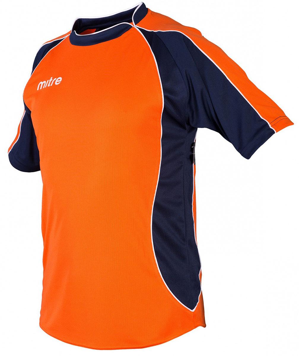 Футболка для мальчика Mitre, цвет: оранжевый. 5T40050BTNV. Размер 134 накидка тренировочная mitre цвет оранжевый размер 122