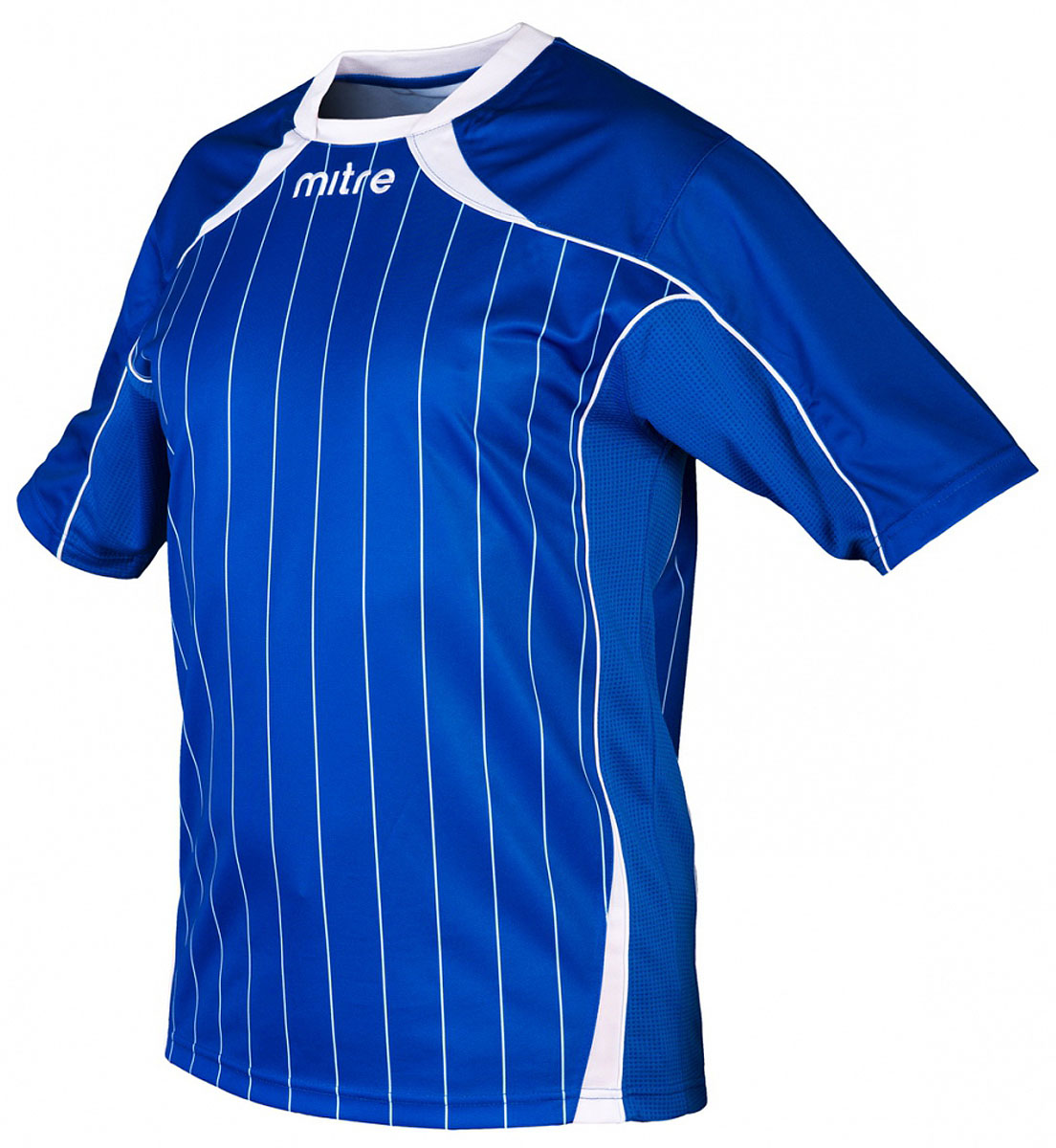 Футболка для мальчика Mitre, цвет: синий. 5T40051BRH2. Размер 1225T40051BRH2Футболка для мальчика Mitre выполнена из полиэстера. Удобный эластичный ворот. Сетчатые полосы ткани по бокам футболки улучшают вентиляцию тела.