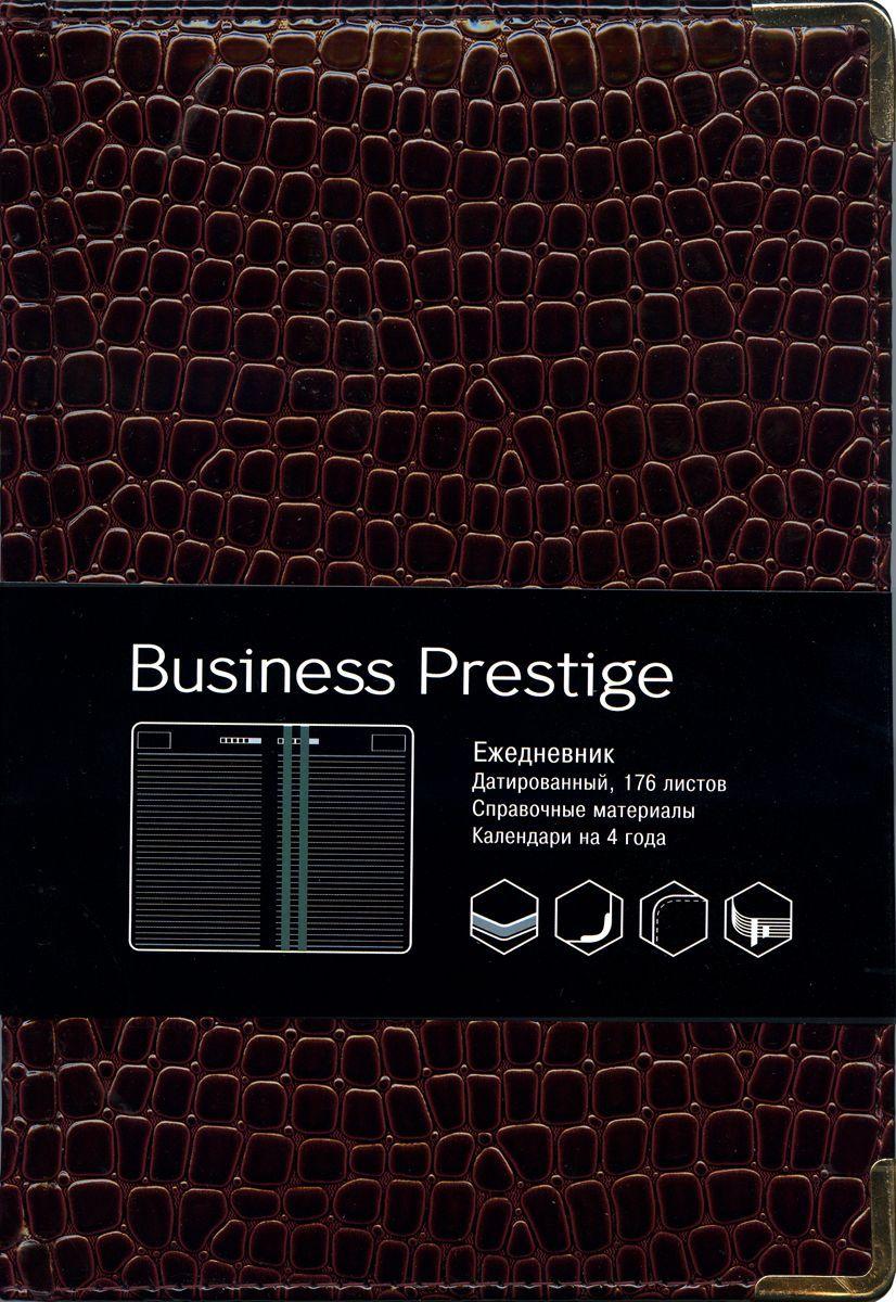 Канц-Эксмо Еженедельник Business Prestige Iguana датированный 176 листов цвет бордовый формат A5ЕКП51817606Ежедневник А5. Датированный 176 л. (BUSINESS PRESTIGE). Искусственная кожа, цветные форзацы, справочные материалы, ляссе.