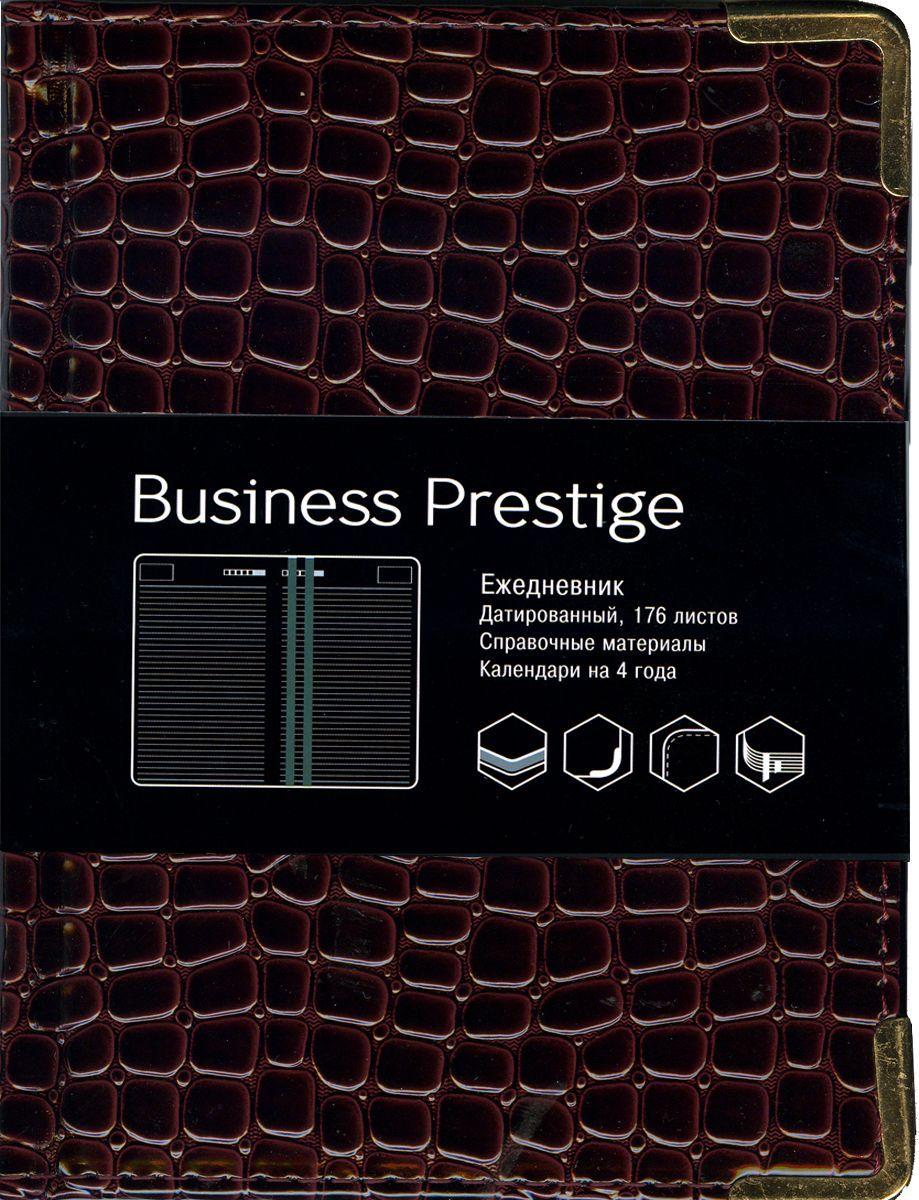 Канц-Эксмо Еженедельник Business Prestige Iguana датированный 176 листов цвет бордовый формат A6ЕКП61817604Ежедневник А6. Датированный 176 л. (BUSINESS PRESTIGE). Искусственная кожа, цветные форзацы, справочные материалы, ляссе.