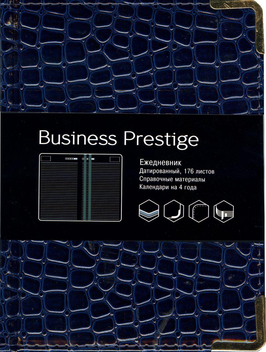 Канц-Эксмо Еженедельник Business Prestige Iguana датированный 176 листов цвет темно-синий формат A6ЕКП61817605Ежедневник А6. Датированный 176 л. (BUSINESS PRESTIGE). Искусственная кожа, цветные форзацы, справочные материалы, ляссе.