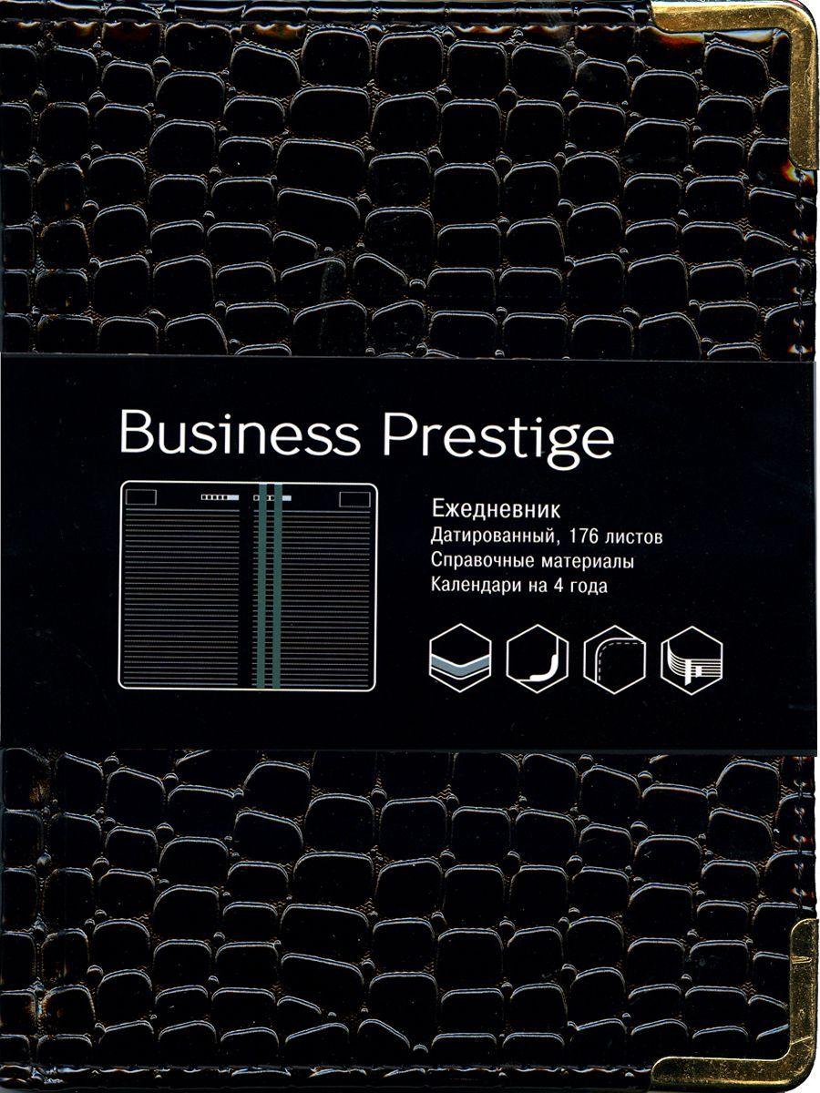 Канц-Эксмо Еженедельник Business Prestige Iguana датированный 176 листов цвет черный формат A6ЕКП61817606Ежедневник А6. Датированный 176 л. (BUSINESS PRESTIGE). Искусственная кожа, цветные форзацы, справочные материалы, ляссе.