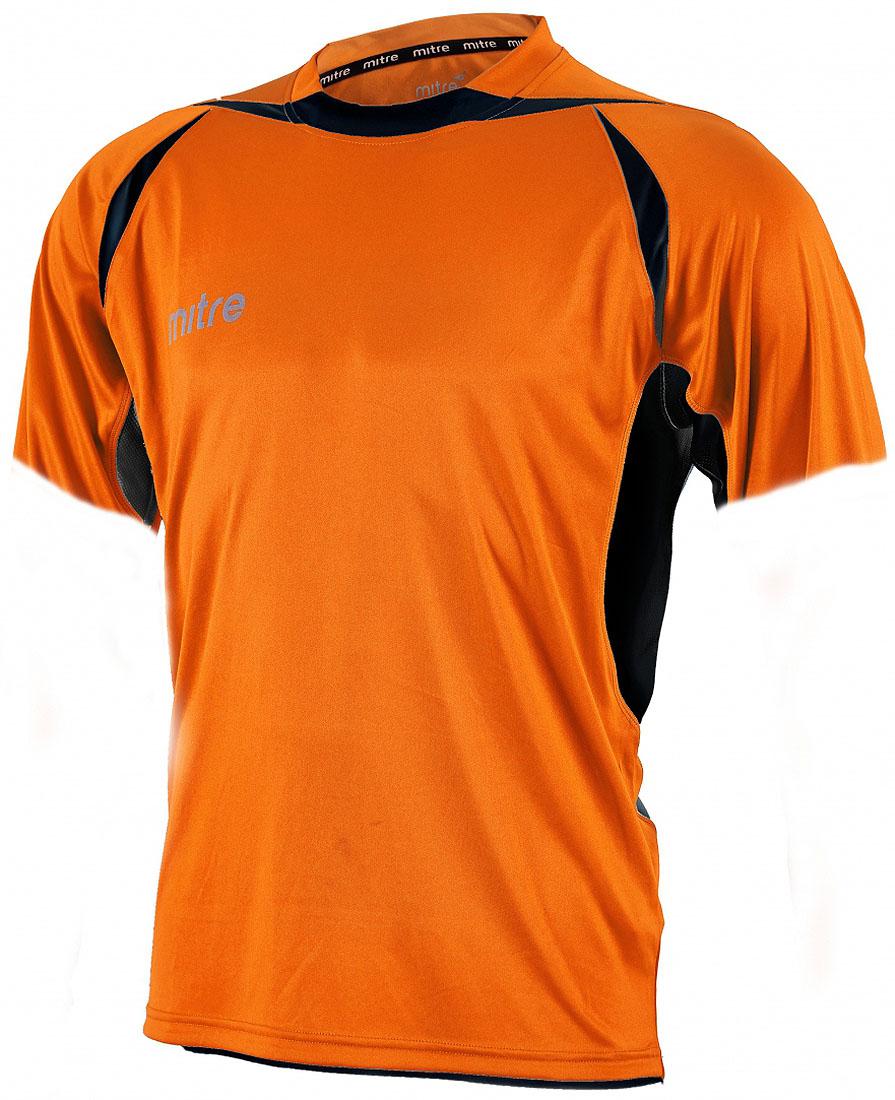 Футболка для мальчика Mitre, цвет: оранжевый. T70002TAB. Размер 122T70002TABФутболка для мальчика Mitre выполнена из полиэстера. Современный дизайн с применением различных тканей. Удобный эластичный ворот. Сетчатые полосы ткани футболки своевременно охлаждают тело. Светоотражающий логотип Mitre.