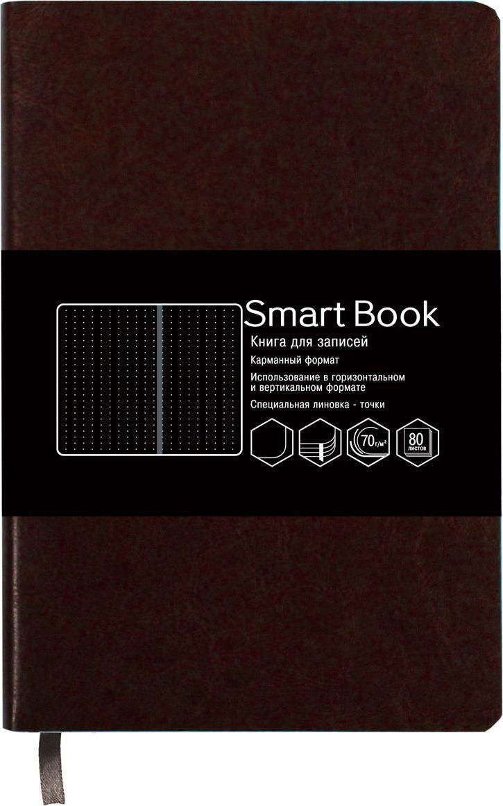 Канц-Эксмо Записная книжка Smart Book в линейку 80 листов цвет коричневыйКЗСБКЛ6802245Записная книжка Канц-Эксмо Smart Book карманного формата (90х178 мм) великолепно подойдет для заметок и зарисовок и позволит систематизировать поступающую информацию.Книжка имеет сшитый внутренний блок из белой офсетной бумаги плотностью 70гр/м2 с закругленными углами. Специальная разметка – точки – позволяет использовать книжку как в горизонтальном, так и в вертикальном формате. Интегральный переплет выполнен из высококачественной искусственной кожи. Изделие дополнено ляссе.