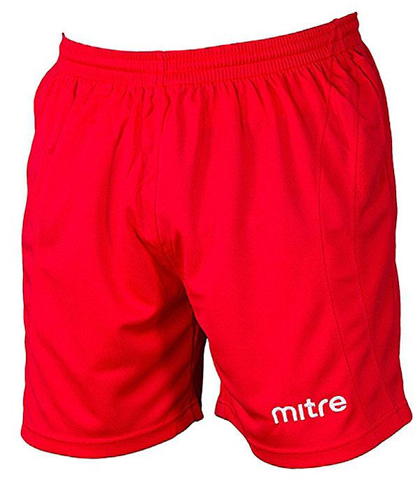 Шорты для мальчика Mitre, цвет: красный. TT29026. Размер 158TT29026Классические короткие игровые шорты MITRE. Износостойкий 100% полиэстер. Шнурок внутри пояса для идеальной подгонки.