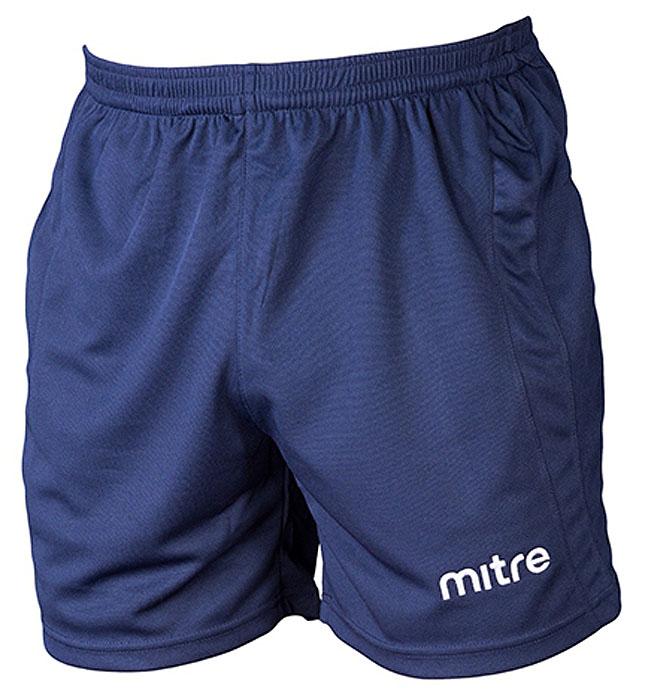 Шорты для мальчика Mitre, цвет: темно-синий. TT29026. Размер 158TT29026Классические короткие игровые шорты MITRE. Износостойкий 100% полиэстер. Шнурок внутри пояса для идеальной подгонки.
