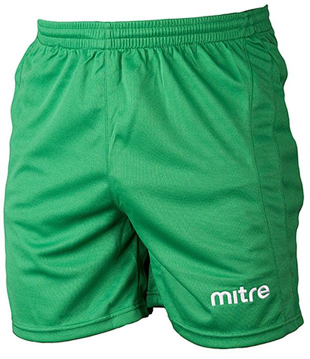 Шорты для мальчика Mitre, цвет: зеленый. TT29026. Размер 146TT29026Классические короткие игровые шорты MITRE. Износостойкий 100% полиэстер. Шнурок внутри пояса для идеальной подгонки.
