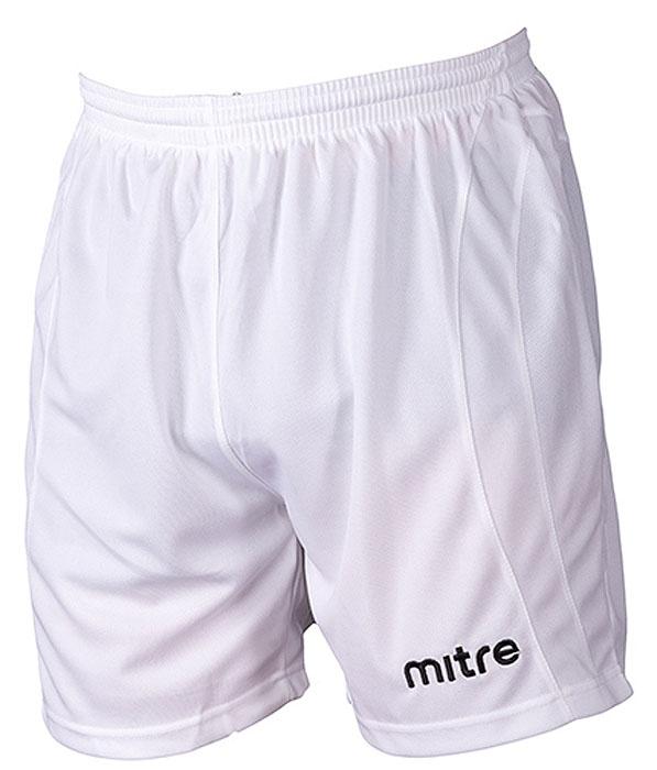 Шорты мужские Mitre, цвет: белый. TT29026. Размер L (50/52)TT29026Шорты мужские Mitre выполнены из полиэстера. Классические короткие игровые шорты. Шнурок внутри пояса для идеальной подгонки.