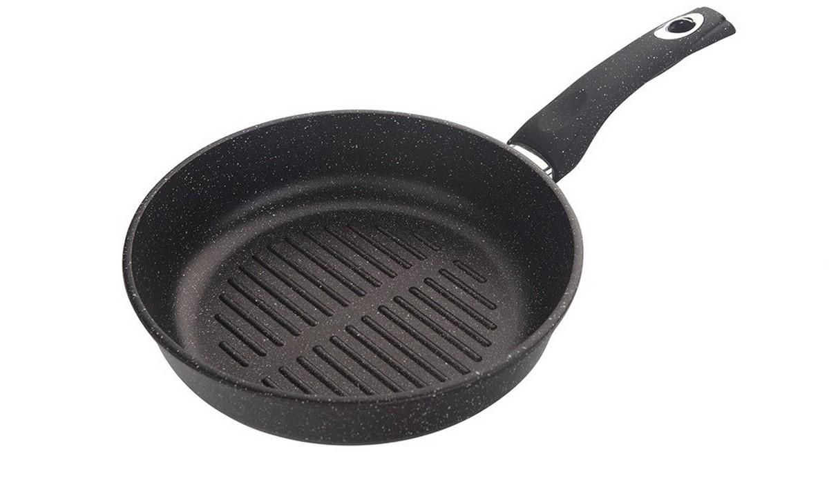 Сковорода-гриль  Маруся , цвет: черный. Диаметр 24 см. МР7724г - Посуда для приготовления