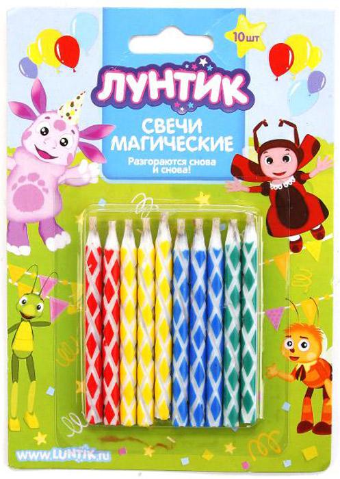 Веселый праздник Набор свечей для торта Лунтик 10 шт оборудование для производство свечей в украине
