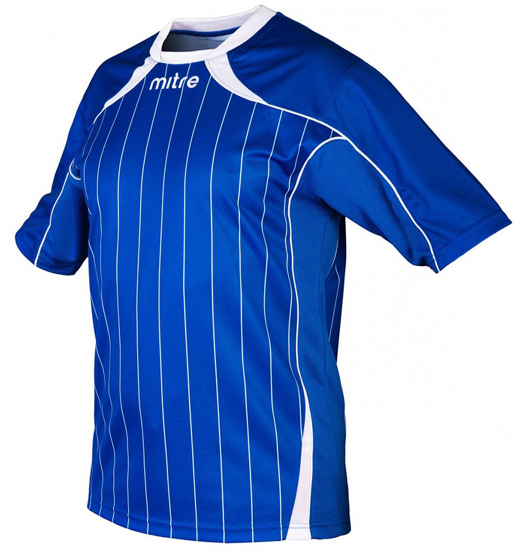 Футболка мужская Mitre, цвет: синий. 5T40051MRH2. Размер L (50/52)5T40051MRH2Футболка мужская Mitre выполнена из полиэстера. Удобный эластичный ворот. Сетчатые полосы ткани по бокам футболки улучшают вентиляцию тела.