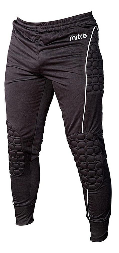 Брюки спортивные для мальчика Mitre, цвет: черный. T50009B. Размер 122T50009BБрюки спортивные для мальчика Mitre выполнены из 100% полиэстера. Пояс и низ брюк оснащены резинкой. Модель дополнена защитными элементами на бёдрах и коленях.