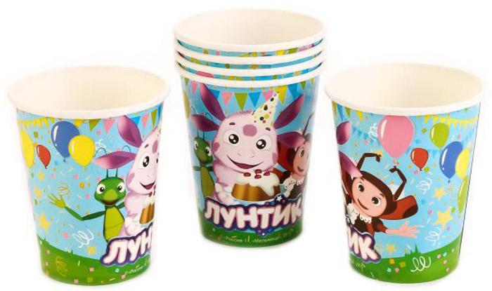 Веселый праздник Набор стаканов Лунтик 6 шт лунтик развивающий набор лунтик фантазер