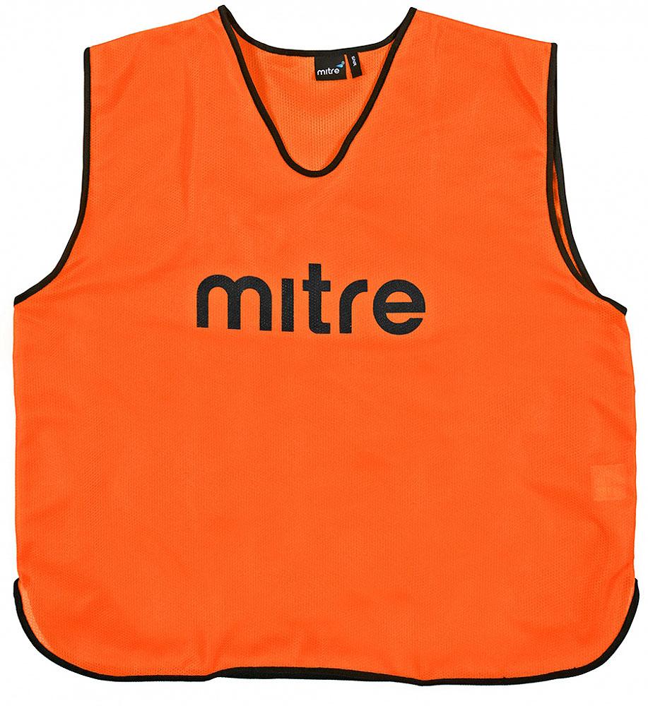 Накидка тренировочная Mitre, цвет: оранжевый. Размер 122 футболка мужская mitre цвет голубой 5t40033mscb размер l 50 52