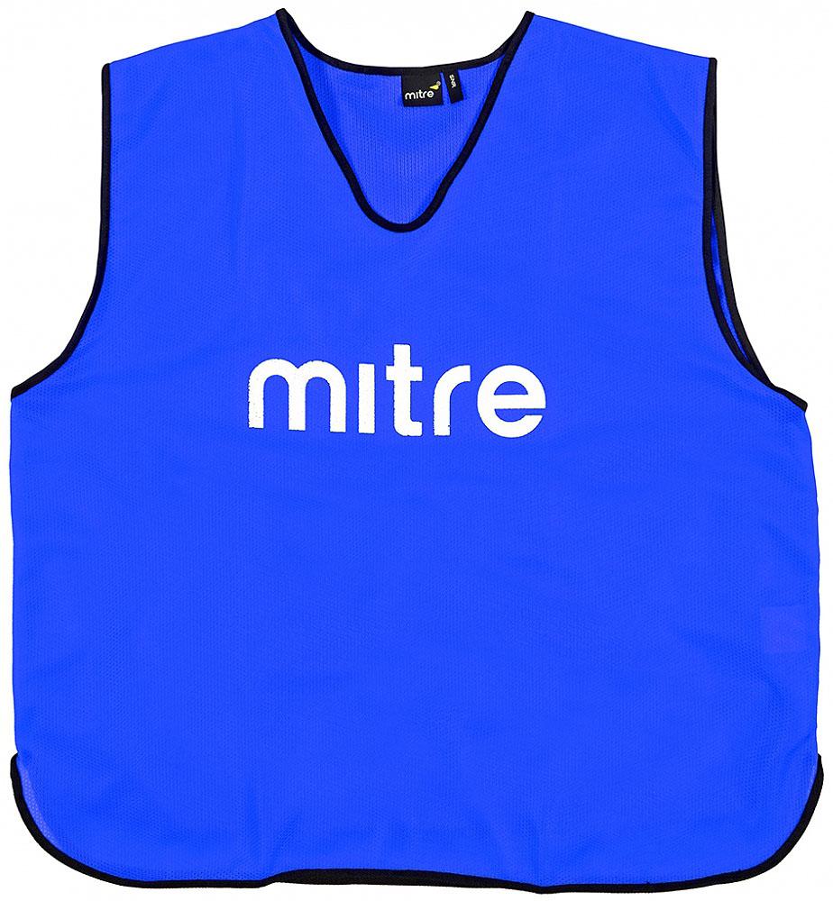 Накидка тренировочная Mitre, цвет: синий. Размер 122Т21503RG2Накидка тренировочная Mitre выполнена из 100% полиэстера. На груди модель дополнена логотипом Mitre.