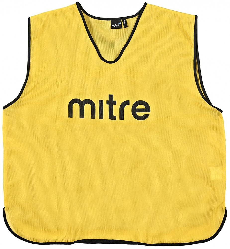 Накидка тренировочная Mitre, цвет: желтый. Размер 122 мяч mitre impel 5 bb 1052wg7