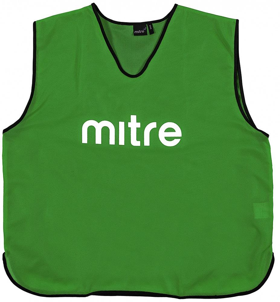 Накидка тренировочная Mitre, цвет: зеленый. Размер 122Т21503GG2Накидка тренировочная Mitre выполнена из 100% полиэстера. На груди модель дополнена логотипом Mitre.