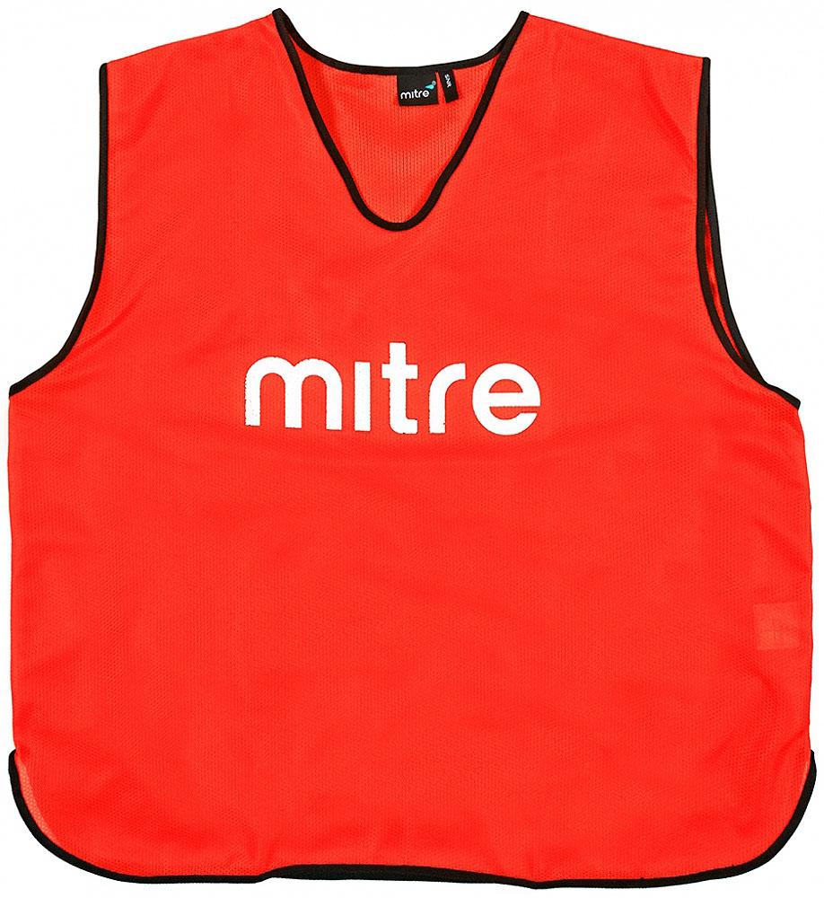 Накидка тренировочная Mitre, цвет: красный. Размер 122Т21503RE1Накидка тренировочная Mitre выполнена из 100% полиэстера. На груди модель дополнена логотипом Mitre.
