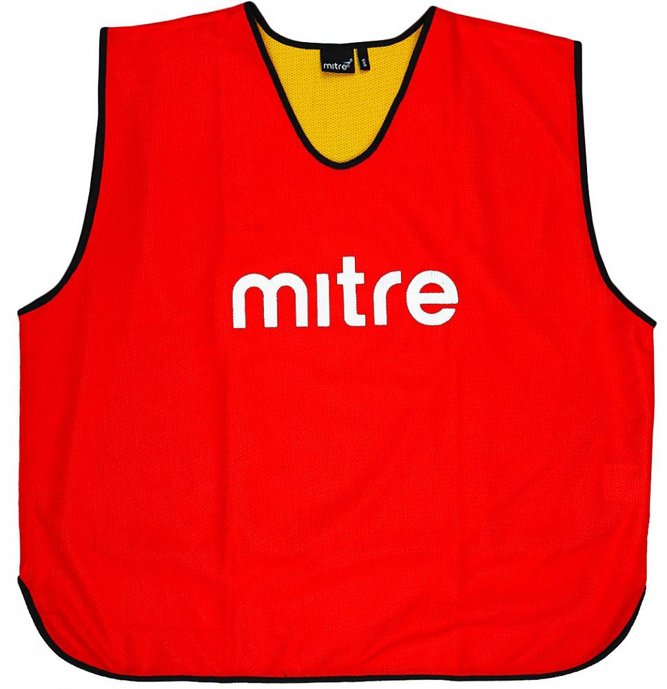 Накидка тренировочная двусторонняя Mitre, цвет: красный. Размер 122 футболка мужская mitre цвет голубой 5t40033mscb размер l 50 52