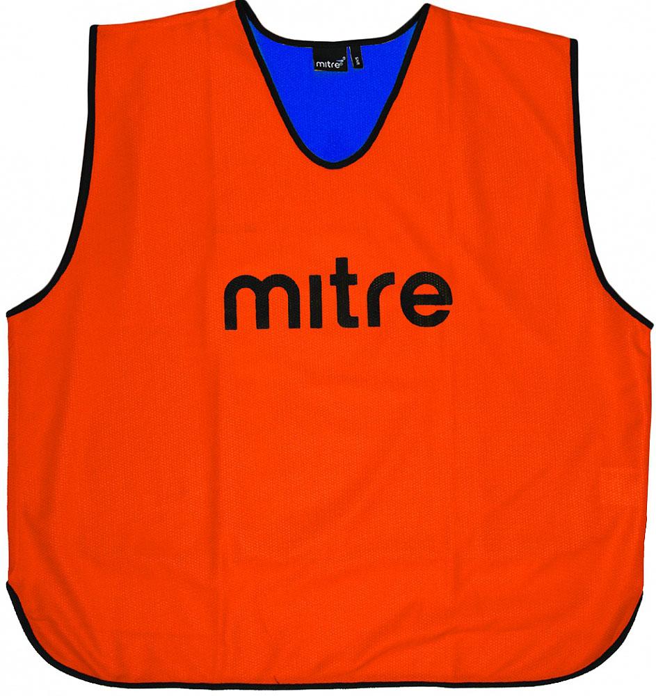 Накидка тренировочная двусторонняя Mitre, цвет: оранжевый, синий. Размер 81Т21916OF5Накидка тренировочная двусторонняя Mitre выполнена из 100% полиэстера. На груди модель дополнена логотипом Mitre.