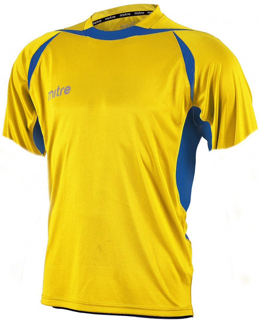 Футболка для мальчика Mitre, цвет: желтый. T70002YLB. Размер 122 футболка мужская mitre цвет голубой 5t40033mscb размер l 50 52