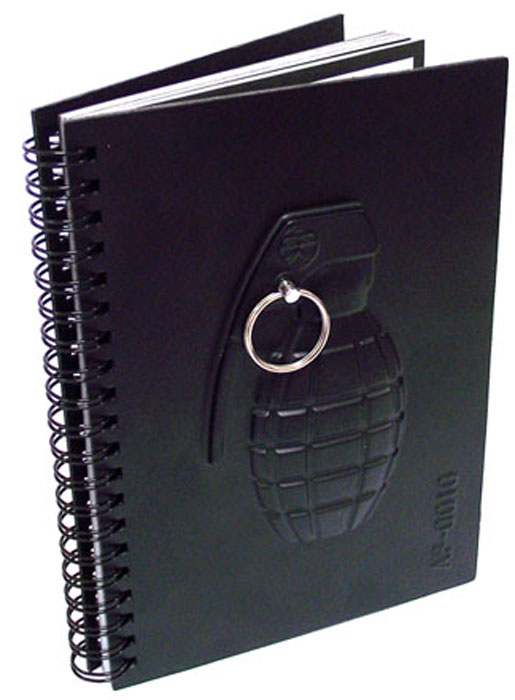 Эврика Блокнот Граната93537Солидный, выдержанный в милитари-стиле, большой отрывной блокнот с красивым оттиском оружия на обложке станет замечательным подарком решительному мужчине. Ведь решительным мужчинам тоже иногда приходится кое-что записывать! Материал: пластик, бумага, картон Упаковка: картон Размер упаковки: 24,5 см х 17 см х 1,5 см.