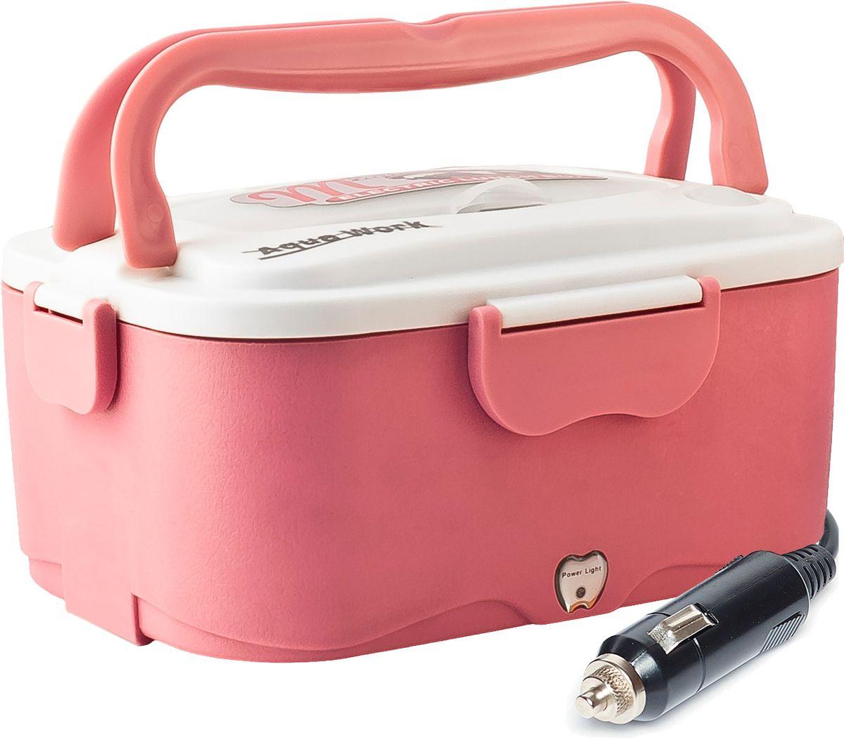 Aqua Work С5, Pink ланчбокс с подогревом 12В12730Ланчбокс Aqua Work С5 разогревает содержимое от 5 минут (в зависимости от количества содержимого). Изготовлен из высококачественного пищевого пластика и нержавеющей стали, имеет удобную ручку для переноса и надежное крепление крышки.