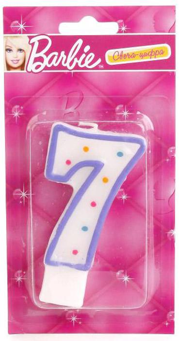 Веселый праздник Свеча-цифра Barbie 7 свеча ароматизированная spaas арома премиум ванильный пирог высота 11 см