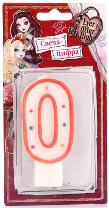 Веселый праздник Свеча для торта Ever After High Цифра 0