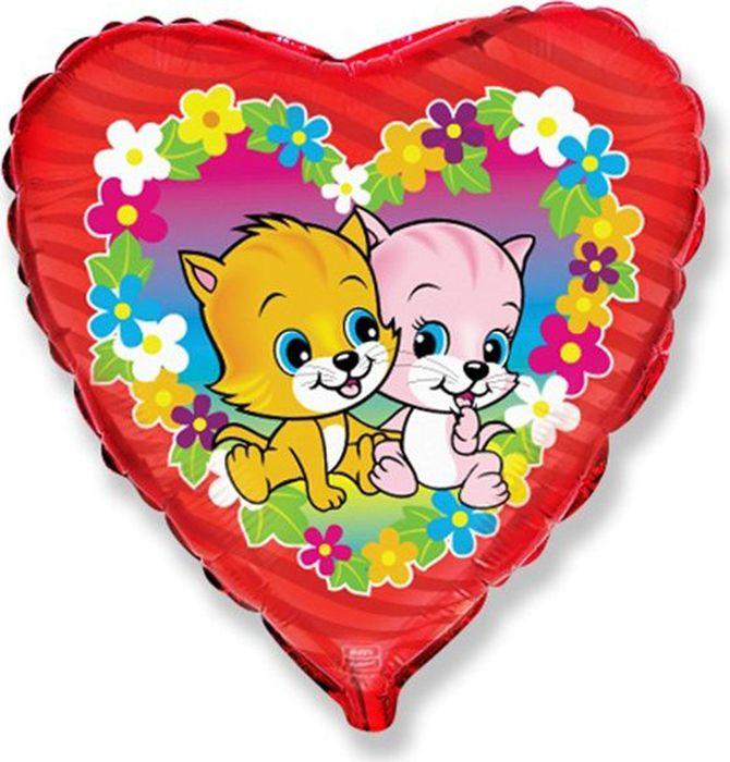 Флексметал Шарик воздушный Котята в цветах полуперсидские котята в москве