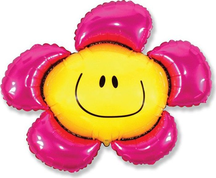 Флексметал Шарик воздушный Цветочек цвет розовый овальные натуральный жемчуг шарик нити слива 13 14x7 8 мм отверстие 0 8 мм около 38 40 шт нитка 13 7