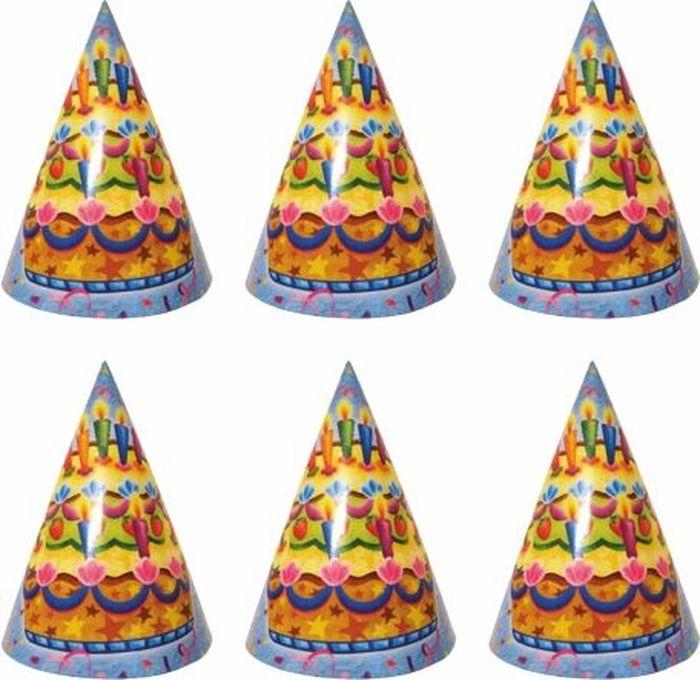 Пати Бум Колпак Праздничный торт 6 шт
