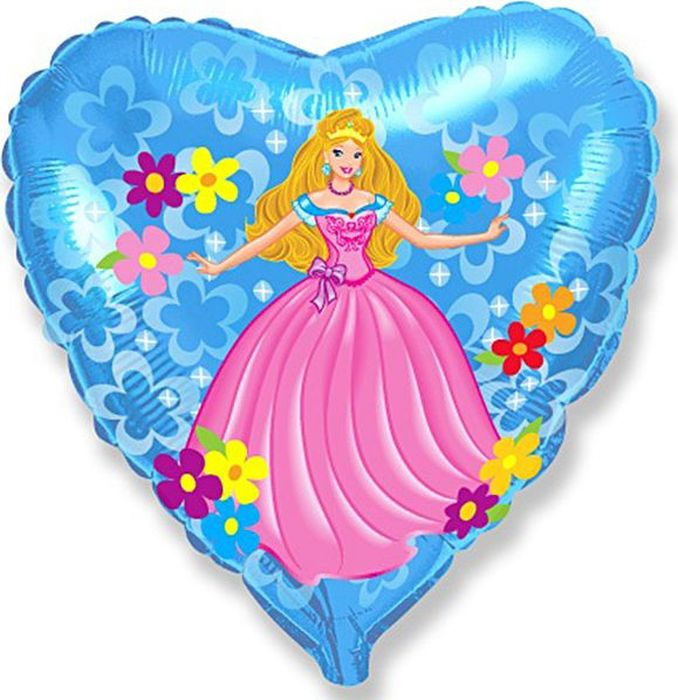 Флексметал Шарик воздушный Принцесса Сердце -  Воздушные шарики