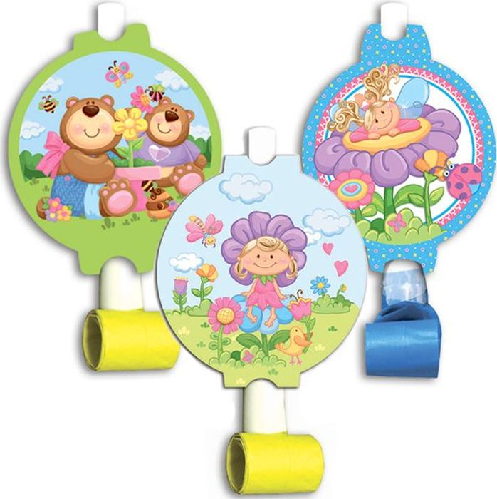 Пати Бум Язык-гудок с карточкой Детская коллекция 6 шт пати бум язык гудок с карточкой моя принцесса 6 шт