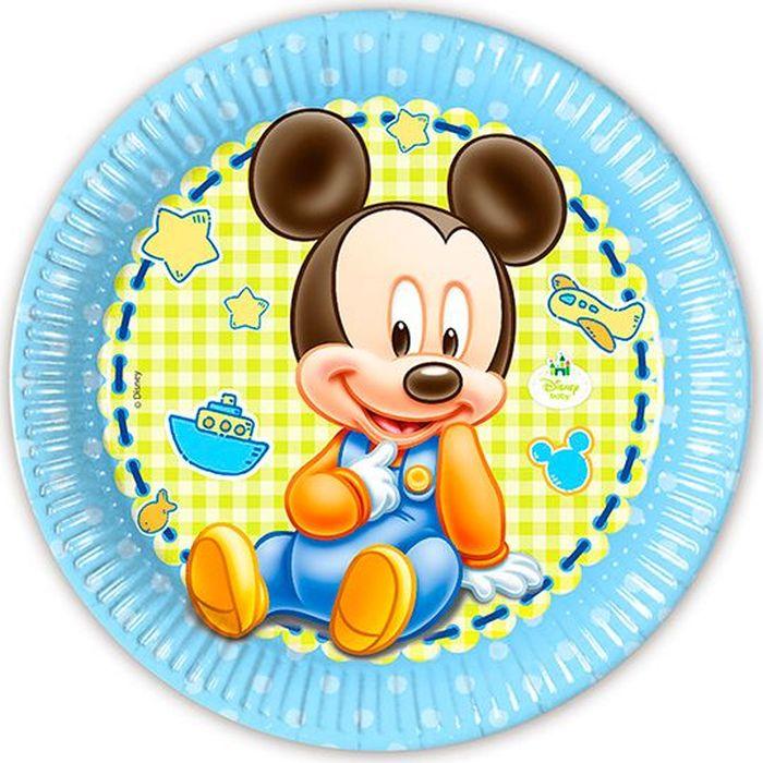 Procos Тарелка Малыш Микки 23 см 8 шт - Сервировка праздничного стола