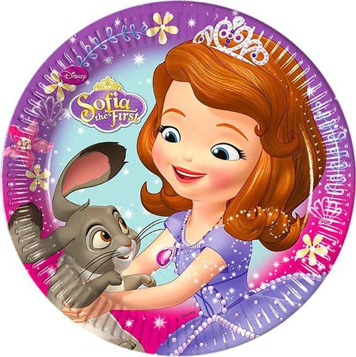 Procos Тарелка Принцесса София 20 см 8 шт procos салфетка принцесса софия морская 20 шт