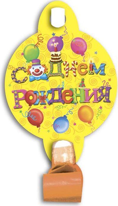 Пати Бум Язык-гудок с карточкой С Днем рождения 6 шт пати бум язык гудок с карточкой моя принцесса 6 шт