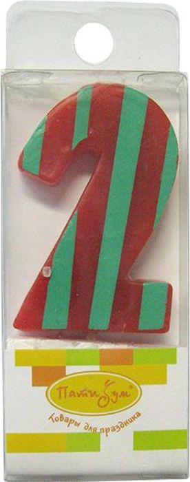 Пати Бум Свеча для торта Мини Цифра 2