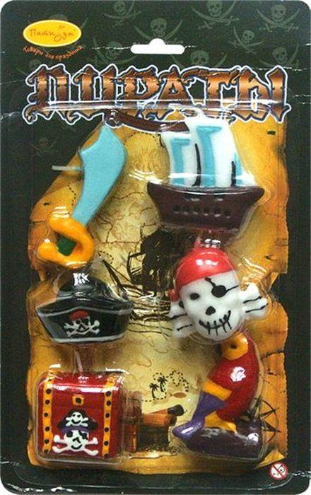 Пати Бум Набор свечей для торта Пираты 6 шт пати бум набор свечей коктейльные 20 см 20 шт